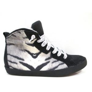 Donna Carolina Zebra hiden wedge sneakers! 38.5